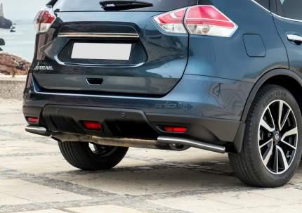 Защита заднего бампера d42 уголки Rival Nissan X-Trail T32 2015-2018, R.4122.009