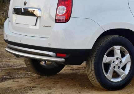 Защита заднего бампера d57 Rival для Renault Duster I 2011-2015, нерж. сталь, R.4701.014