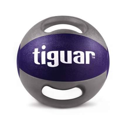 Медицинбол Tiguar TI-PLU010, серый/фиолетовый, 10 кг