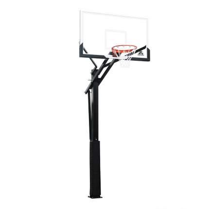 Баскетбольная стационарная стойка DFC ING60U 152x90см (четыре короба)