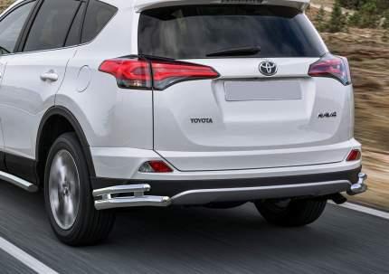 Защита заднего бампера d57+d42 уголки Rival Toyota Rav4 CA40 2015-н.в., R.5718.005