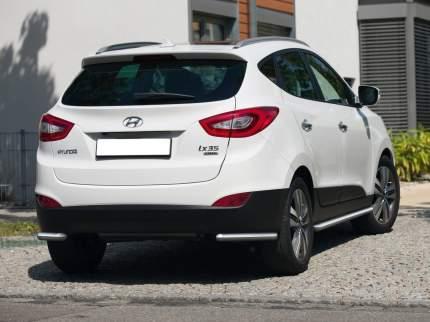 Защита заднего бампера d57 уголки Rival Hyundai ix35 I 2010-2015, нерж. сталь, R.2301.010