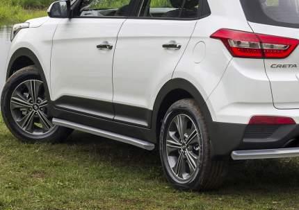 Защита заднего бампера d57 Rival для Hyundai Creta I 2016-н.в., нерж. сталь, R.2310.009