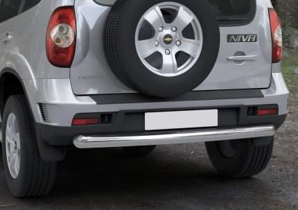 Защита заднего бампера d76 Rival для Chevrolet Niva I 2009-н.в., нерж. сталь, R.1004.010