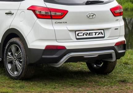 Защита заднего бампера d57 скоба Rival Hyundai Creta I 2016-н.в., нерж. сталь, R.2310.008