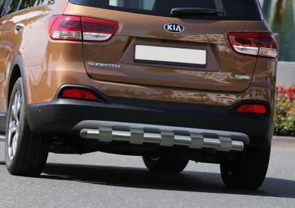 Защита заднего бампера d57 усиленная Rival Kia Sorento III Prime 2015-2017, R.2808.005