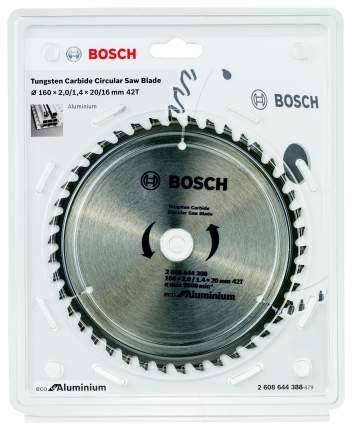 Пильный диск твердосплавный BOSCH Ф160х20мм 42зуб. (ECO AL 2608644388)