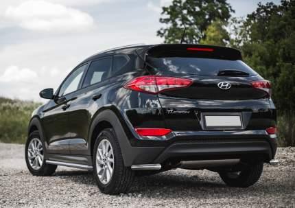 Защита заднего бампера d57 уголки Rival Hyundai Tucson III 2015-2018, R.2308.007