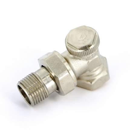Вентиль обратный никелированный НВ UNI-FITT 1/2″ угловой с разъемным соединением THERMO