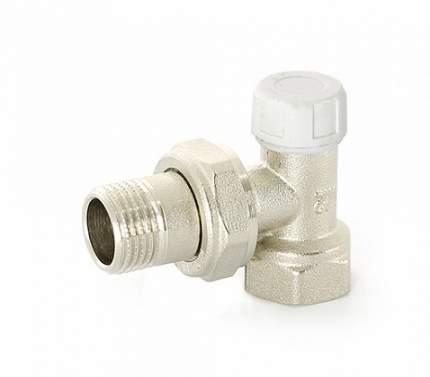 Вентиль обратный угловой НВ 1/2 никелированный с разъёмным соединением Uni-Fitt