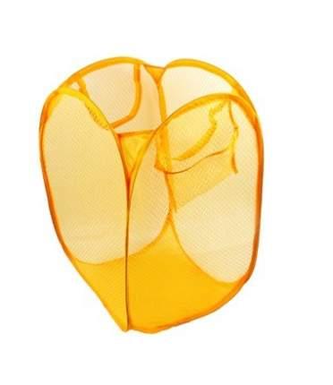 Складная сетчатая корзина для вещей, 28х28х48 см (Цвет: Оранжевый )
