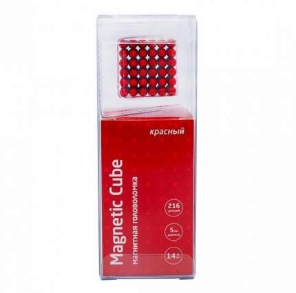 Конструктор из неодимовых магнитов Magnetic Cube Куб красный, 216 шариков, 5 мм