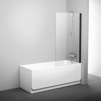 Шторка для ванны PVS1-80 черный+транспарент