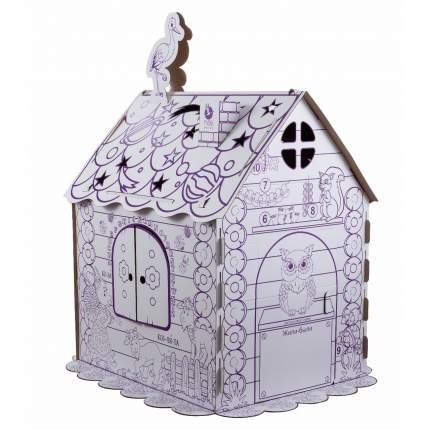 Раскраска ПМДК Картонный домик