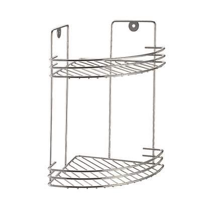 Полка для ванной комнаты и кухни угловая двойная решетчатая, 19х19х29см Corsa