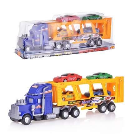 Игровой набор Shenzhen toys Инерционный автовоз с машинками, 41 см