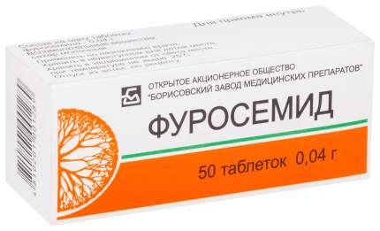 Фуросемид таблетки 40 мг 50 шт. Борисовский Завод Медпрепаратов