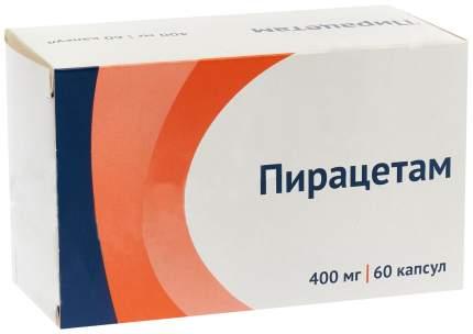 Пирацетам капс 400 мг N60