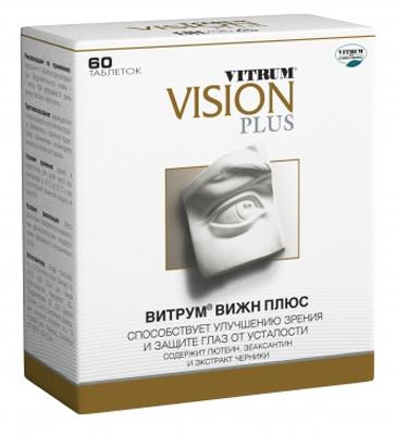 Витрум Вижн Плюс таблетки, покрытые пленочной оболочкой 854 мг №60