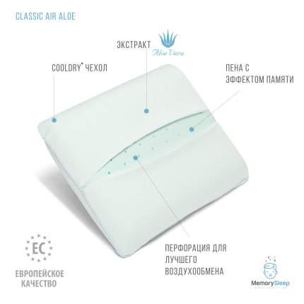 Ортопедическая подушка с эффектом памяти MemorySleep Classic Air Aloe