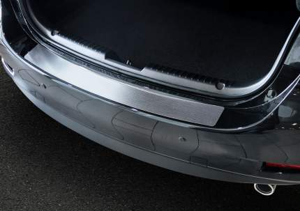 Накладка на задний бампер Rival для Mazda 6 III GJ 2015-н.в., нерж. сталь, NB.3802.1