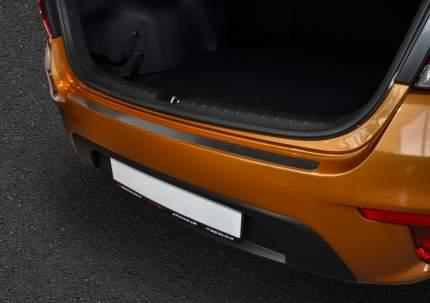 Накладка на задний бампер Rival для Kia Rio IV седан 2017-2020, нерж. сталь, NB.S.2809.1