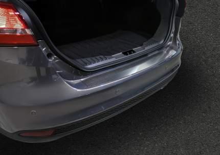 Накладка на задний бампер Rival Ford Focus III седан 2014-2019, нерж. сталь, NB.S.1801.1