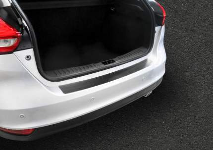 Накладка на задний бампер Rival Ford Focus III хэтчбек 2014-2019, нерж. сталь, NB.H.1801.1