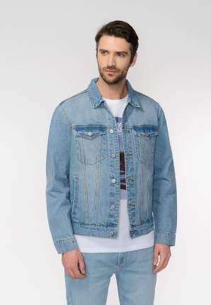 Джинсовая куртка мужская Modis M201D00253 голубая 50 RU