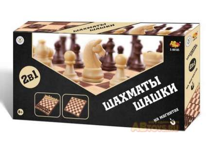 Шахматы магнитные и шашки 2 в 1 Junfa toys Академия Игр