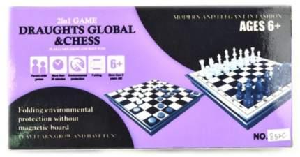 Настольная игра 2 в 1 Наша игрушка Шахматы, шашки, 25х25 см