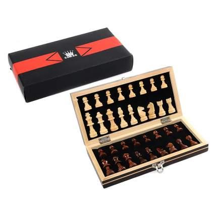 Шахматы магнитные Игротрейд деревянное поле 24.5 см