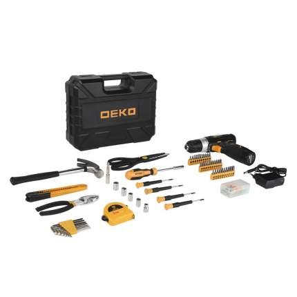 Аккумуляторная дрель Deko GCD12DU3 + набор 104 инструмента для дома в кейсе 063-4095