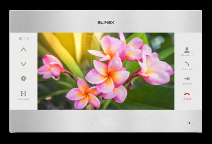 Видеодомофон Slinex SL-10M Серебро + белый