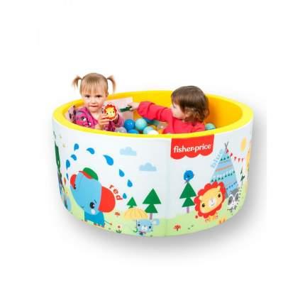 Сухой бассейн Hotenok Fisher Price Учим цвета с друзьями на отдыхе, 100х40см + 200 шариков
