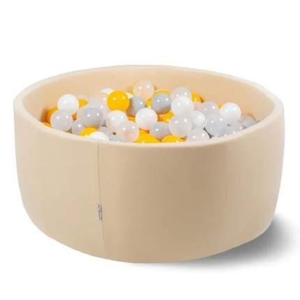 Сухой бассейн Hotenok Лайт Жемчужные лучики, 85х33 см + 200 шариков