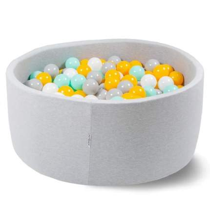 Сухой бассейн Hotenok Лайт Цветомузыка, 85х33 см + 200 шариков