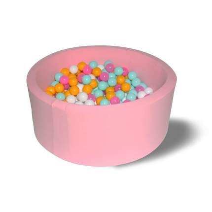 Сухой бассейн Hotenok Лайт Розовый цветок, розовый, 33 см + 200 шариков