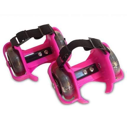 Роликовые коньки на пятку TZHF Small whirlwind pulley розовые
