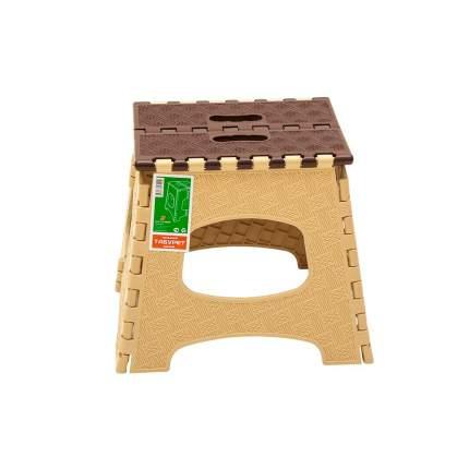 Табурет Элластик-Пласт ЭП 472902 27х23х28 см, коричневый/бежевый