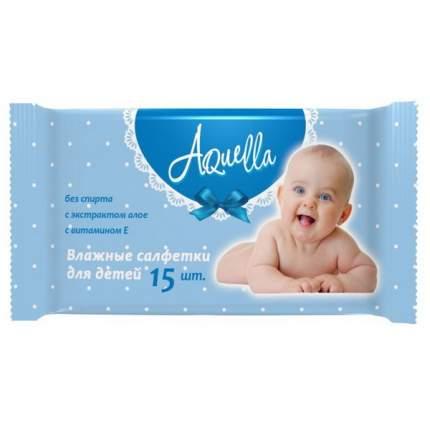 Влажные салфетки детские AQUELLA 15 шт.