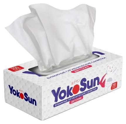 Бумажные гигиенические салфетки детские YokoSun, 200 шт.