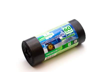 Мешки для мусора MirPack Premium+ 20 шт 60 л