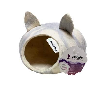 Домик для морских свинок, хомяков Zoobaloo шерсть 13х23х23см