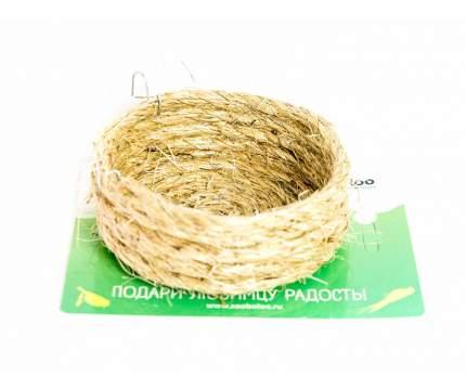 Гнездо для птиц Zoobaloo, плоское из сизали, 10 х 3 см