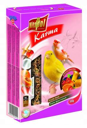 Основной корм Vitapol для канарейки, фруктовый, 500г