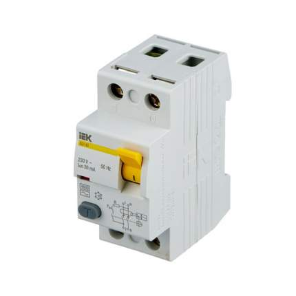 """Выключатель дифференциального тока (УЗО) IEK """"ВД1-63"""", 2п, 63 А, 30 мА, тип AC"""