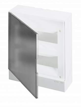Бокс настенный Basic E 24М, серый, прозрачная дверь (с клеммным блоком)