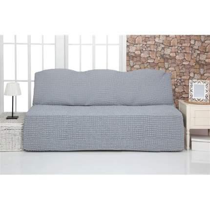 Чехол на трехместный диван без подлокотников и оборки Venera, серый