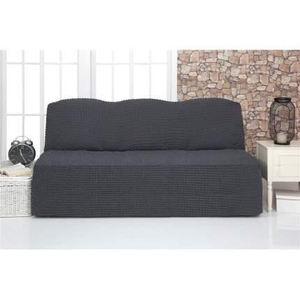 Чехол на трехместный диван без подлокотников и оборки Venera, темно-серый